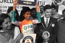 Ojal Nalavade Creates Guinness World Record Becomes The Fasttest Blindfolded Female Skater