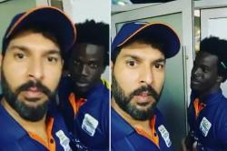 Yuvraj Singh Taught West Indies Player Punjabi In T 10 League Watch Video