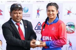 South Asian Games Nepal Vs Maldives Anjali Chand Scripts T20i History 10 Wickets Haul 1 Run