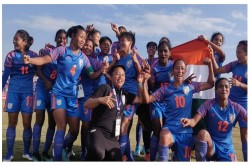 Sag 2019 Indian Women Football Team Beats Nepal In Summit Clash Won Their 3rd Consecutive Gold