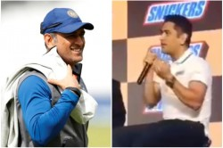 Ms Dhoni Sings An Old Bollywood Classic In Front Of Fans Watch The Video