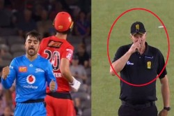 The Umpire Richard Davidson Suddenly Started Scratching His Nose While Giving Out