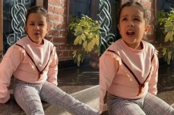 Dhoni S Daughter Jeeva Sang Krishna Bhajan Video Viral On Social Media