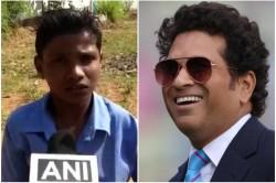 Sachin Tendulkar Surprises Bastar Kid Maddaram Gifts Cricket Kit To Differently Able Child