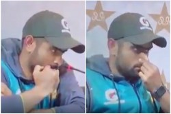 Babar Azam Trolled During The Press Conference Video Viral On Social Media