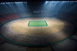 Icc Shares Picture Of World S Largest Stadium May Match Soon