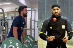 Harbhajan Singh Gave Hilarious Comment On Rohit Sharma Dead Lift Work Out Video