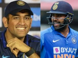India Vs New Zealand Rohit Sharma Praises Ms Dhoni Says Best Captain Ever India Have Historic Win