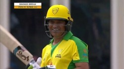 Bushfire Charity Match T10 Cricket Sachin Tendulkar Slams 4 On First Ball Of Ellyse Perry