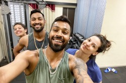 Hardik Pandya Shares A Post Work Out Family Picture Including Natasa Stankovic And Krunal Pandya