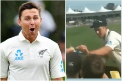 Ind Vs Nz Trent Boult Heart Winning Gesture When He Sign The Onion For Fans Watch
