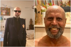 Kapil Dev S Lockdown Look Black Suit With Bald Head And Spectacles Amazed The Fans See Pictures