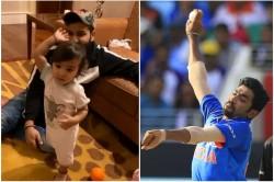 Rohit Sharma S Daughter Samaira Copy Jasprit Bumrah Bowling Action Watch