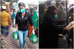 Covid 19 Bangladesh Women S Fast Bowler Jahanara Alam Serving 50 Families In Dhaka