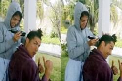 Cristiano Ronaldo Gets Haircut By Girlfriend Georgina Rodriguez Shared Video