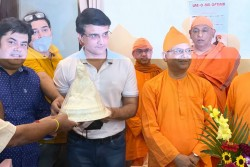 Coronavirus Pandemic Bcci President Sourav Ganguly Visits Belur Math After 25 Years Donates 2000 Kgs