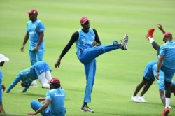 Windies Cricket Team Returned To The Ground Practiced In Closed Stadium