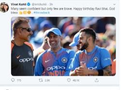 Virat Kohli Congratulated Coach Ravi Shastri On His Birthday