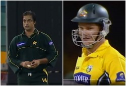On This Day Shoaib Akhtar Delivered That Speed Shane Watson Could Not See Ball Watch