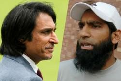 Watch Viral Video When Younis Khan Abuses Ramiz Raza On Live Tv Debate Said Nakli Mullah