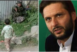 Shahid Afridi Spreads Fake News Against India By Sharing Sopore Terror Attack Child Photo User Troll