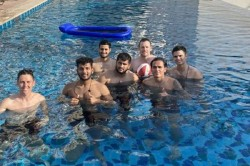 Ipl 2020 Arjun Tendulkar Is Seen In Swimming Picture With Mumbai Indian Player In Uae