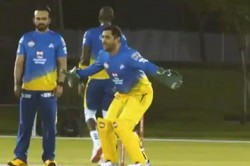 Ipl 2020 Csk Franchise Shared A Practice Match Video Ms Dhoni Shows His Strength