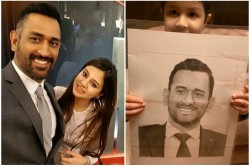Ziva Dhoni Video Viral On Social Media With Sketch Of Ms Dhoni