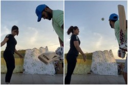Ipl 2020 Nitish Rana On Roof Practice With Wife In Lockdown