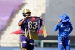 Ipl 2020 Why Nitish Rana Flagged His Jersey With Name Of His Father Ill Law After Slamming 50 Runs