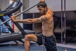 Team India Sweats In Gym Pandya Shows Muscle Power Watch Video
