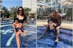 Hardik Pandya And Natasa Stankovic Share Pool Photo Of Their Son Agastya