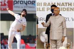 Ind Vs Eng Ishant Sharma 100th Test Presented With A Special Cap By The President Of India