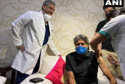 Former Indian Captain Cricketer Kapil Dev Received First Dose Of Covid19 Vaccine At Fortis Hospital