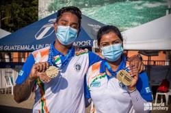 Archery World Cup Atanu Das And Deepika Kumari Wins Gold