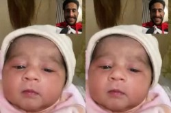 Hasan Ali Became Father Sees His Daughter For The First Time Through Video