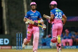 Rr Vs Rcb Riyan Parag Hits Helicopter Shot To Get Boundry Makes 66 Runs In 37 Balls With Shivam Dube