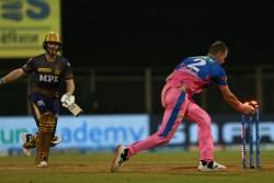 Rr Vs Kkr Eoin Morgan Departs At Diamond Duck First Time In Ipl With Unfortunate Run Out At Wankhede