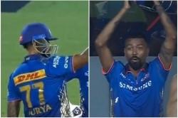 Ipl 2021 Suryakumar Yadav Smash 99m Six On Pat Cummins Here Is Hardik Pandya Reaction