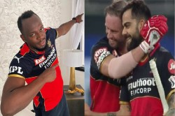 Ipl 2021 Usain Bolt Wearing Rcb Jersey Gives Special Message To Kohli And De Villiers