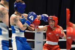 Asian Boxing Championships 6 Time World Champion Boxer Mary Kom Looses Final Against Nazym Kyzaibay