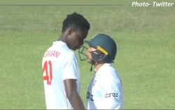 Taskin Ahmed Did Dance To Blessing Muzarabani Bowling Then Both Clashed On The Field Video