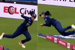 Ind W Vs Eng W Harleen Deol Takes Stunning Catch In 1st T20i Video
