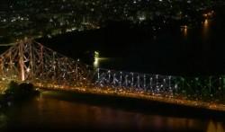 Tokyo Olympics 2020 Kolkata S Howrah Bridge Donned Olympic Colors Watch Video