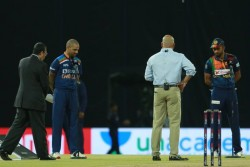 India Vs Sri Lanka 3rd T20i Shikhar Dhawan Won The Toss Opt To Bat Sandeep Warrier Made Debut