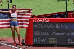 Tokyo 2020 Sydney Mclaughlin Set New Olympic Record In Women S 400m Hurdles
