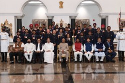 Independence Day 2021 President Ram Nath Kovind Hosted Indian Contingent Of Tokyo Olympics For Tea