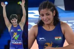 World Wrestling Championships Final Anshu Malik Becomes 1st Indian Woman To Win Silver Sarita Bronze