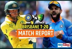 AUS vs IND, 1st T20:  बारिश से प्रभावित  मैच में ऑस्ट्रेलिया ने भारत को 4 रन से हराया
