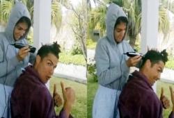 कोहली के बाद अब क्रिस्टियानो रोनाल्डो ने अपनी गर्लफ्रेंड से कटवाए बाल, शेयर किया वीडियो